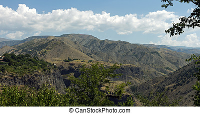 Armenian mountains. - Landscape in Armenian mountains,...