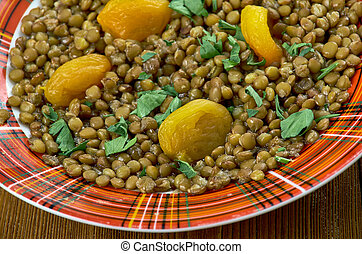 Armenian mshosh - mshosh -Armenian dish with lentils and...