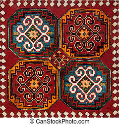 Fragment of ornament from old armenian carpet
