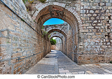 Armenian Quarter - Narrow Alley in the Armenian Quarter of...