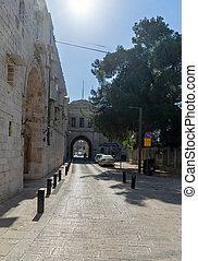 Armenian quarter street in Jerisalem Old city