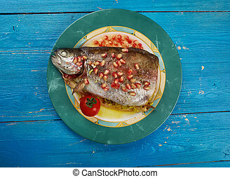 Armenian Trout dish - kutap - Armenian dish,Trout stuffed...