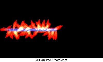 armes, laser, rouges, brûler