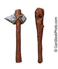 armes, préhistorique