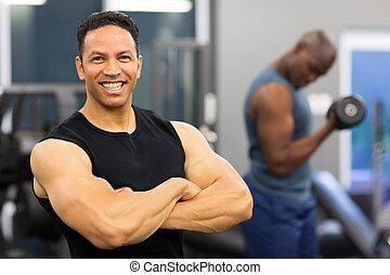 armes traversés, musculaire, homme