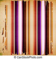 armoedig, kleurrijke, strepen, textiel, helder, achtergrond