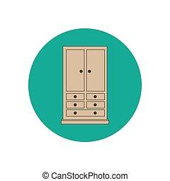 Armoire wardrobe ilustration