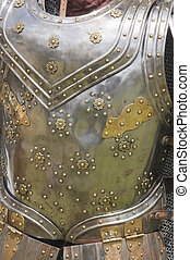 Closeup of some traditional elizabethan armor