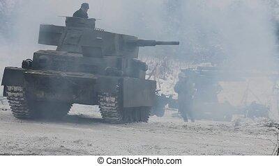 armor explosion smoke war - field of battle explosion smoke
