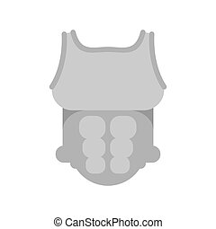 Armor knight. chest armour. medieval Body panoply