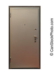 Armored door - Silver door with armored metal protection