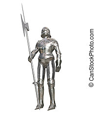 armored guard - Computer image, armored guard 3D, isolated...
