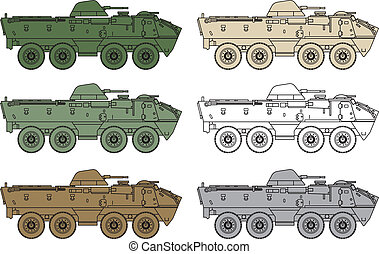 armored OT - 64 Scot  - army illustration tank