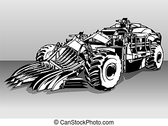 Armored Post Apocalyptic Car