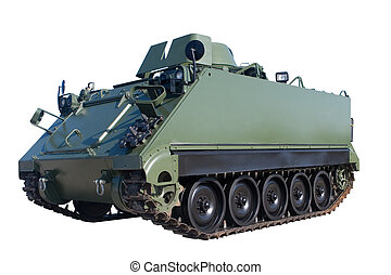 Armored Vehicle - An Armored Personnel Carrier isolated on...