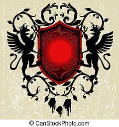 Armory vintage emblem - illustration