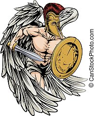 Armoured angel - An illustration of a warrior angel...