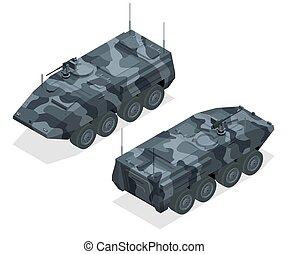 armoured, unificado, militar, equipamento, transporte, máquina, veículos, arma, armoured, portador, plataforma, pessoal, combate, projetado, zones., tipo, largo, apc, bmp