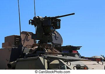 Armoured vehicle gun turret