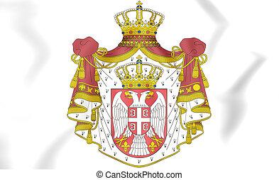 arms., コート, セルビア, illustration., 3d