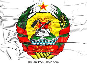 arms., コート, モザンビーク, illustration., 3d