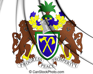 arms., コート, 3d, illustration., ガンビア