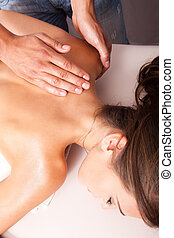 upper back massage technique