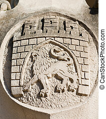 Arms of Lviv city, Ukraine
