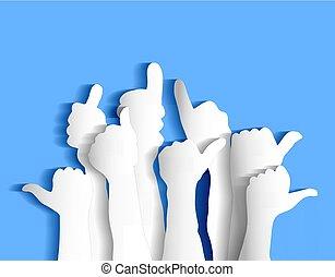 Arms sign flat like blue sky