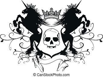 arms6, コート, heraldic, 一角獣