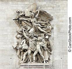army., 弧, (francois, グループ, 作られた, la, -, l'etoile., あった, ...