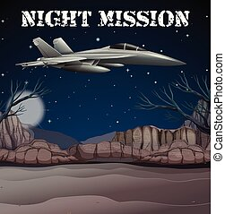 Army Airforce in Night Mission illustration