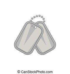 Army badge icon, black monochrome style