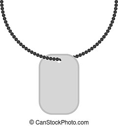 Army badge on  chain