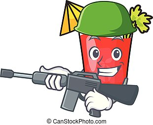 Army bloody mary character cartoon