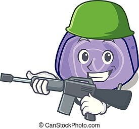 Army blueberry roll cake character cartoon