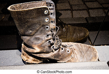 Army Boot Vietnam Veterans Memorial Washington DC - Single...