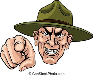 Army Bootcamp Drill Sergeant Soldier Ponting