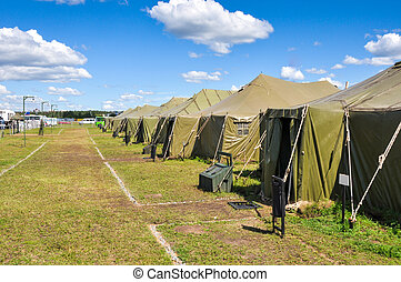 Army camp - the Army camp at a sunny day