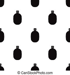 Army canteen icon in black style isolated on white background. Military and army pattern stock vector illustration