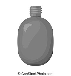 Army canteen icon in monochrome style isolated on white background. Military and army symbol stock vector illustration