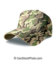 Army Cap - Vector illustration of an army cap