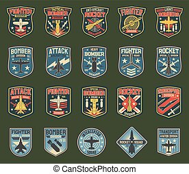 Army chevrons, vector stripes for fighter squadron
