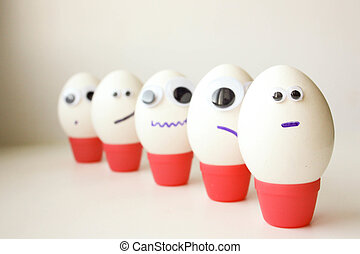 Army concept of unity. Eggs