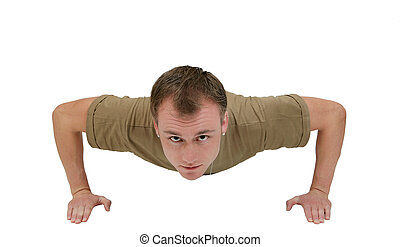 army guy pushup - one fit army soldier man doing pushups...