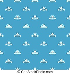 Army hat pattern vector seamless blue repeat for any use