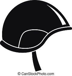 Army helmet icon, simple style