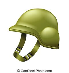 Army helmet isolated on white vector