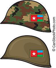 army helmet (military helmet)