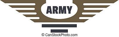 Army icon logo, flat style